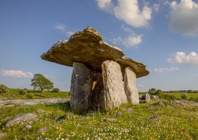 Poulnabrone dolmen, ancient stone formation in The Burren